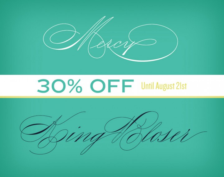 King Bloser & Mercy Typeface 30% OFF